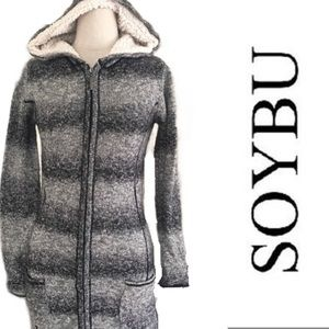 Cozy Soybu Laurie sweater jacket grey Sherpa